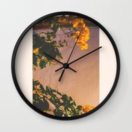 Flores Amarillas Wall Clock