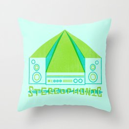 stereophonic Throw Pillow