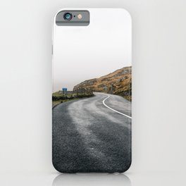 Misty Lonely Road iPhone Case