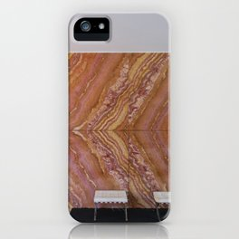 Barcelona's German Pavilion Onyx Marble Wall by Mies van der Rohe iPhone Case