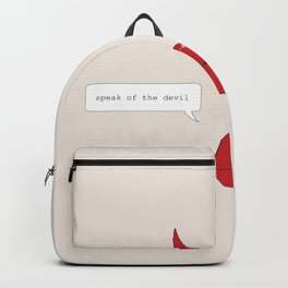 Speak of the Devil Backpack