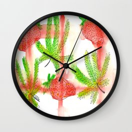 Strawberry Cough Wall Clock
