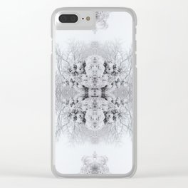 Snow Kaleidoscope | Winter Wonderland Clear iPhone Case