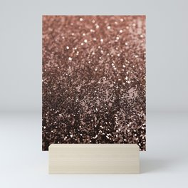 Rose Gold Glitter #1 #sparkling #decor #art #society6 Mini Art Print