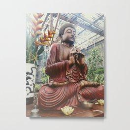 Sacred Gardens Buddha Metal Print