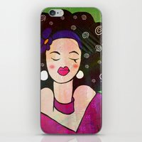 geisha iPhone & iPod Skins featuring GEISHA by SAMHAIN