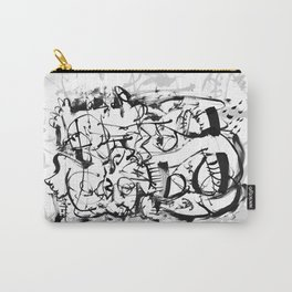 Hard Times - b&w Carry-All Pouch