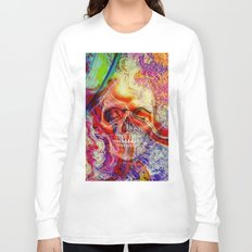 marble skull Long Sleeve T-shirt