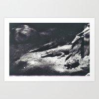 crocodile Art Prints featuring Crocodile by Lydia Brodde