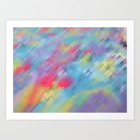 Wrinkle Pixel Art Print