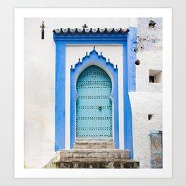 Doors - Chefchaouen Morocco Art Print