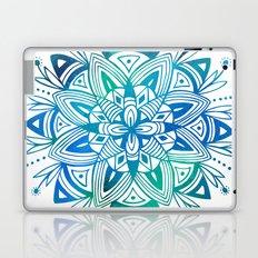 Mandala - Blue Green Watercolor Laptop & iPad Skin