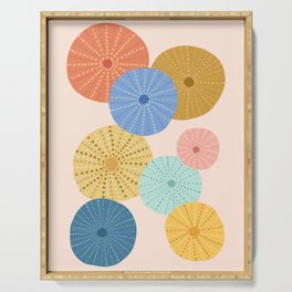 Coloful Sea Urchins 2 Serving Tray