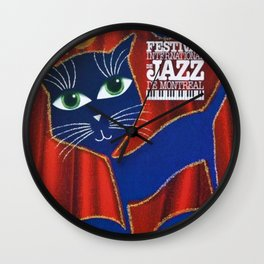 1995 Montreal Jazz Festival Cool Cats Poster Gig Advertisement Wall Clock