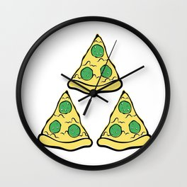 Pizza Pie-Force Wall Clock