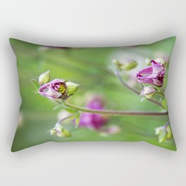 Pink Wild Flowers Rectangular Pillow