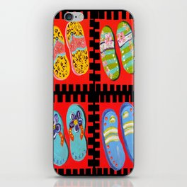 Flip Flops Times Four iPhone Skin