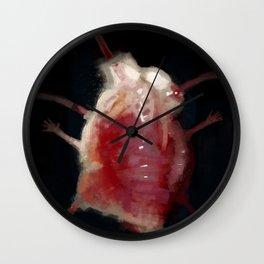 Mutated heart Wall Clock