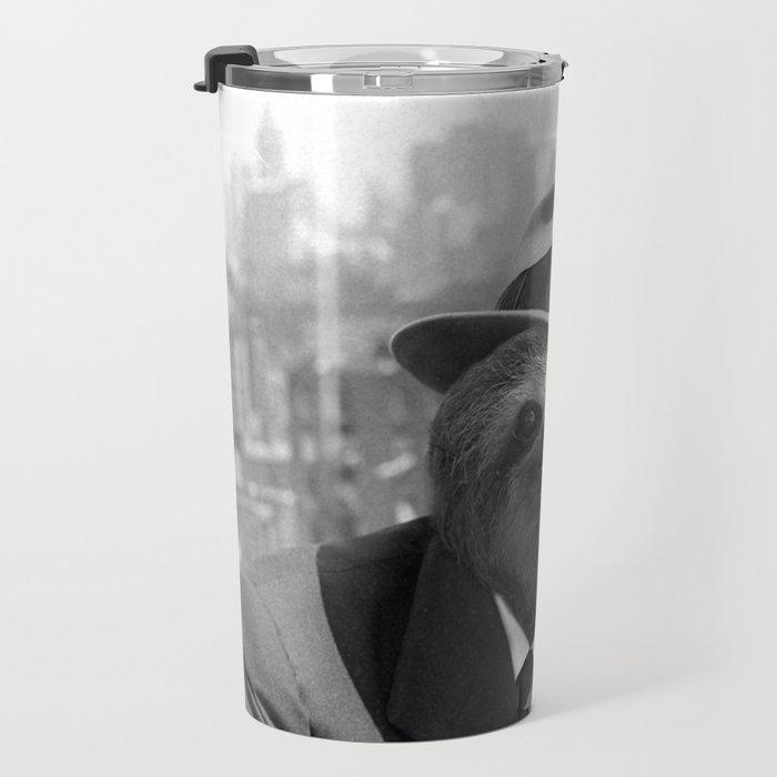 Sloth in New York Travel Mug