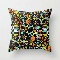 Square 3 color option 1  Throw Pillow