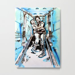 Han Solo and Leia : Don't Get Excited  Metal Print
