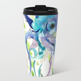 Underwater Scene Design, Octopus Travel Mug