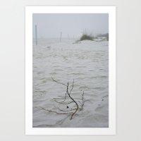 Early Fog On New Smyrna Beach Art Print