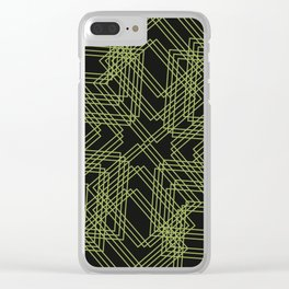 Green Circle Black Clear iPhone Case