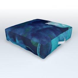 Moonlight Water Lily Outdoor Floor Cushion