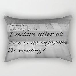 Jane Austen Reading Rectangular Pillow