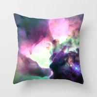 nebula Throw Pillows featuring Pastel nebULa by 2sweet4words Designs