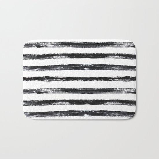 Grungy stripes Bath Mat