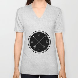Directions \\ Abstract Compass Design Unisex V-Neck