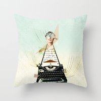 word Throw Pillows featuring Word by zando & jot