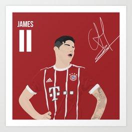 James Rodriguez - Bayern Munchen Art Print