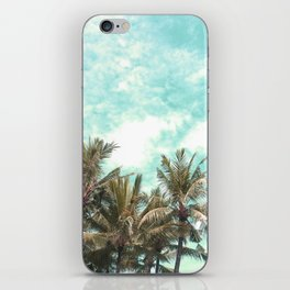 Wild and Free Vintage Palm Trees - Kaki and Turquoise iPhone Skin