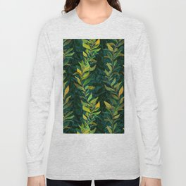 Pond Seaweed Pattern by Robert Phelps Long Sleeve T-shirt