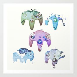 artsy game controllers Art Print
