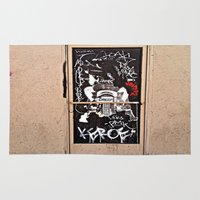 grafitti Area & Throw Rugs featuring Grafitti Door - Creep by Barbara Gordon Photography