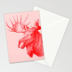 Moose red Stationery Cards