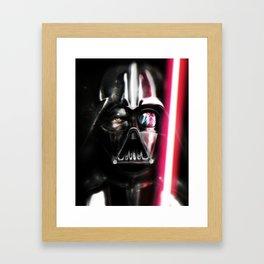 Ahsoka fight Vader Framed Art Print