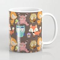 woodland Mugs featuring Woodland by Maria Jose Da Luz