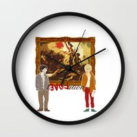 revolution Wall Clocks featuring rEVOLution by Little wadoo