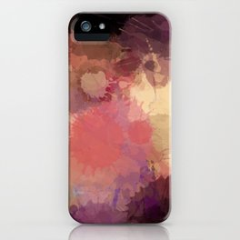 Modern Contemporary Ultra Violet Glow Abstract iPhone Case