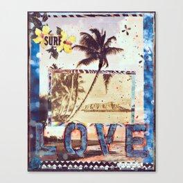 Surf Love, Waikiki, Hawaii Canvas Print