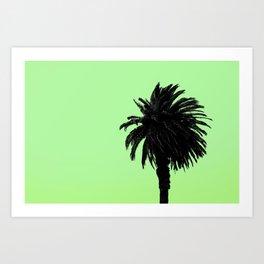 Single Palm - Lemon-Lime Art Print