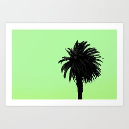 Single Palm - Lemon-Lime Art Print
