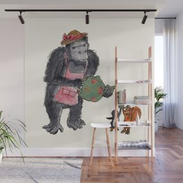 Gorillas Tea Party Wall Mural