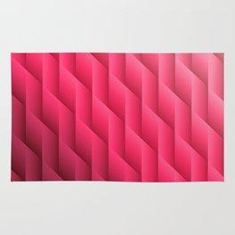 Gradient Pink Diamonds Geometric Shapes Rug