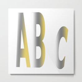 ABC Bronze Gold Alphabet Metal Print